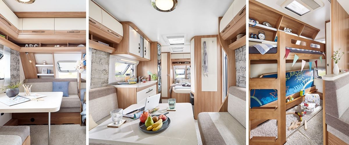 Hobby de luxe 540 kmfe palandy odpo et dph - Caravane 5 places lits superposes ...